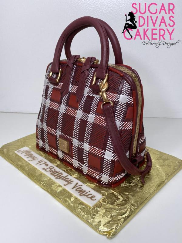 dooney and bourke red plaid 3ddesigner purse