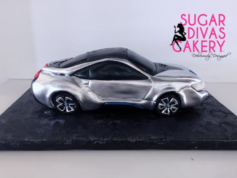 silver sports car 3dbmw