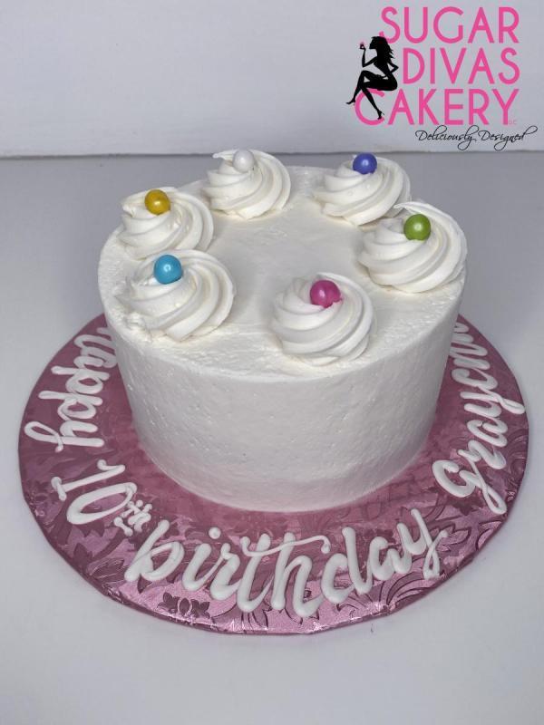 simple birthday white buttercream