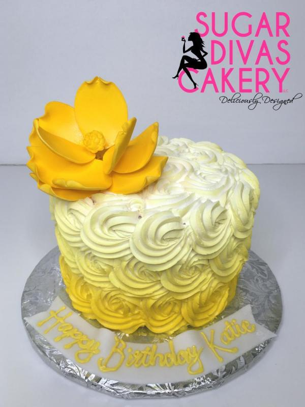 yellow rosettessimplebuttercreambright colorful flower ombre