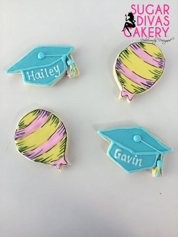 dr suess cookiesgraduation grad hats caps balloons