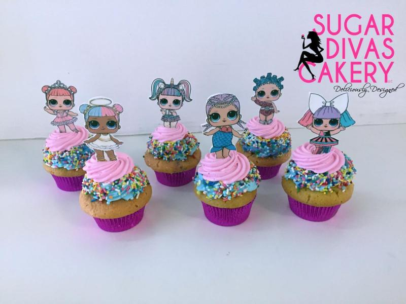lol dolls cupcakesedible images sprinkles pink toy
