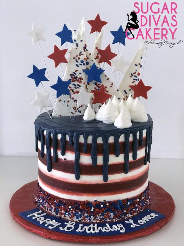 4th july dripindependence day stars dripred white bluechocolate shards