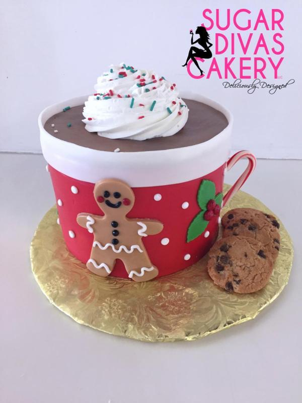christmas hot cocoagingerbread man hollychocolate cookies