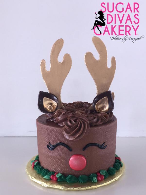 christmas reindeerrudolphchocolate buttercream