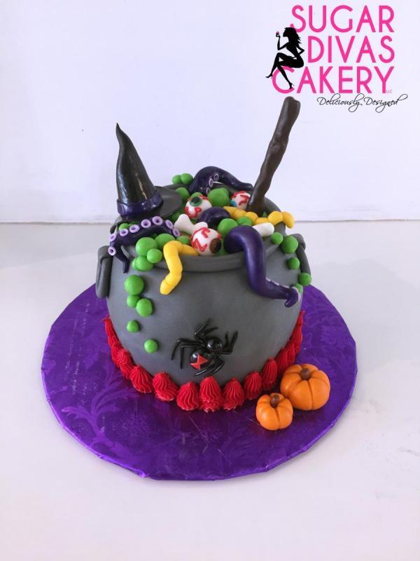 halloween witch cauldron