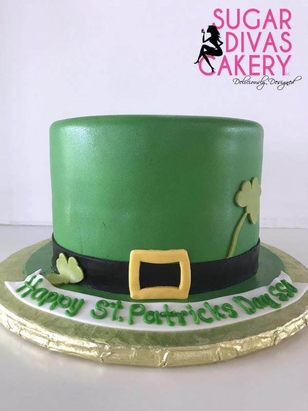 st patricks dayhat green clover leaf leprechaun