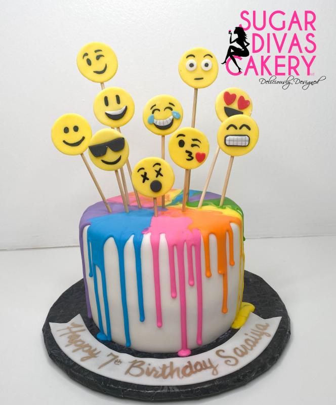 emoji facesmulti-colored dripcolorfulrainbow