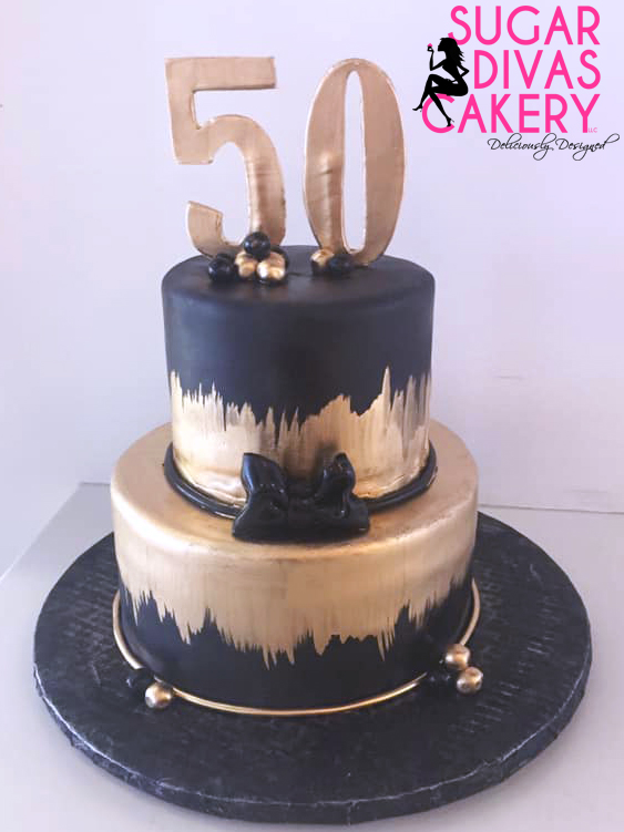 black gold painted 50th fiftieth