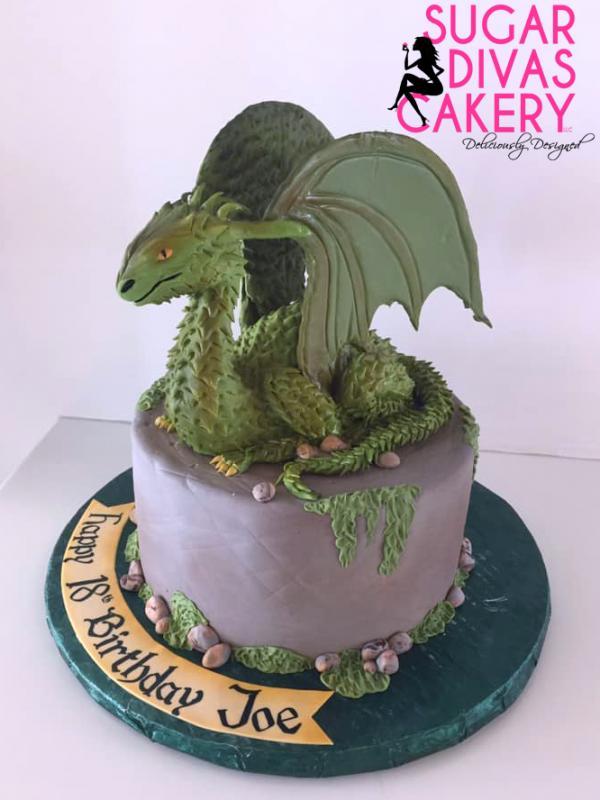 green dragoncustom fondant figure