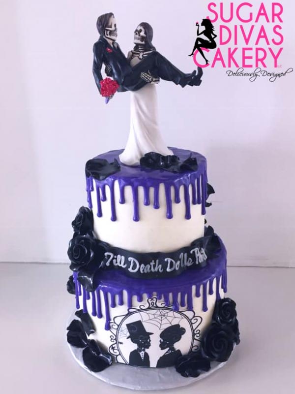 halloween purple dripskeletonsblack roses