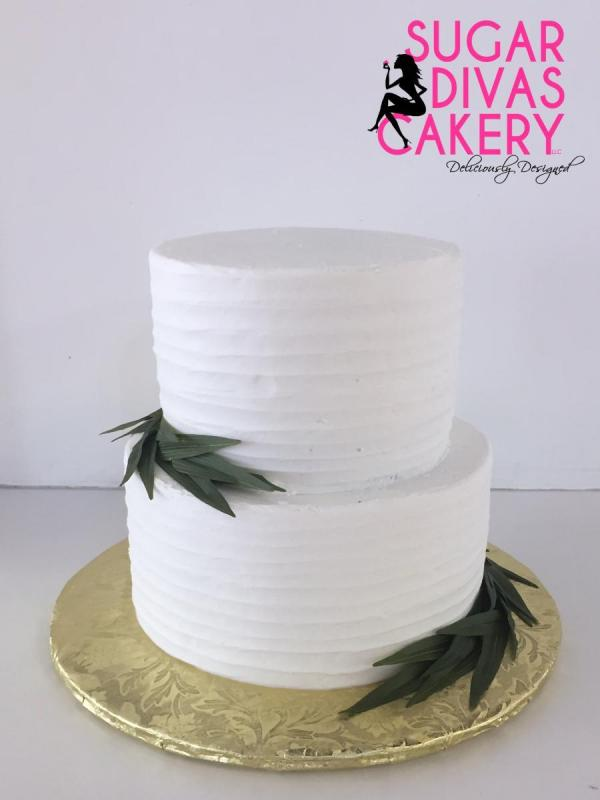 line design sprigsleavessimple buttercream