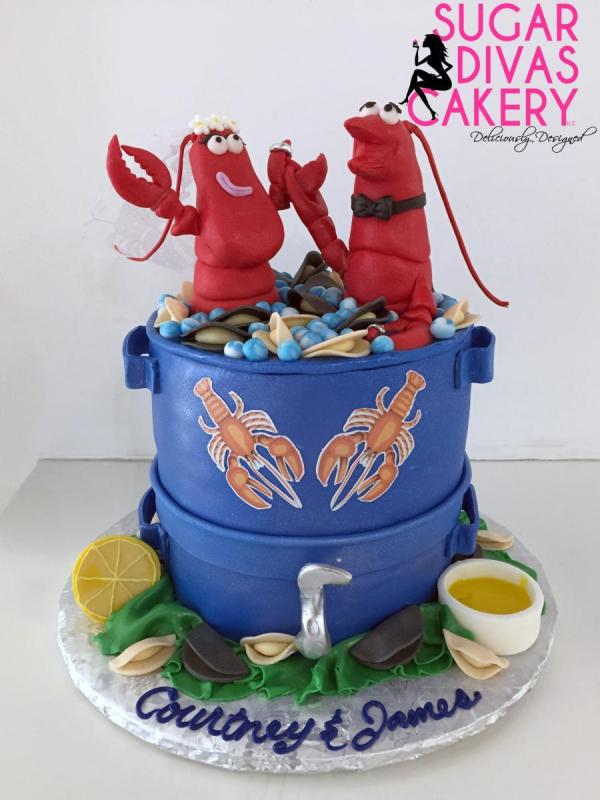 lobster engagementcustom toppers figuresfondant