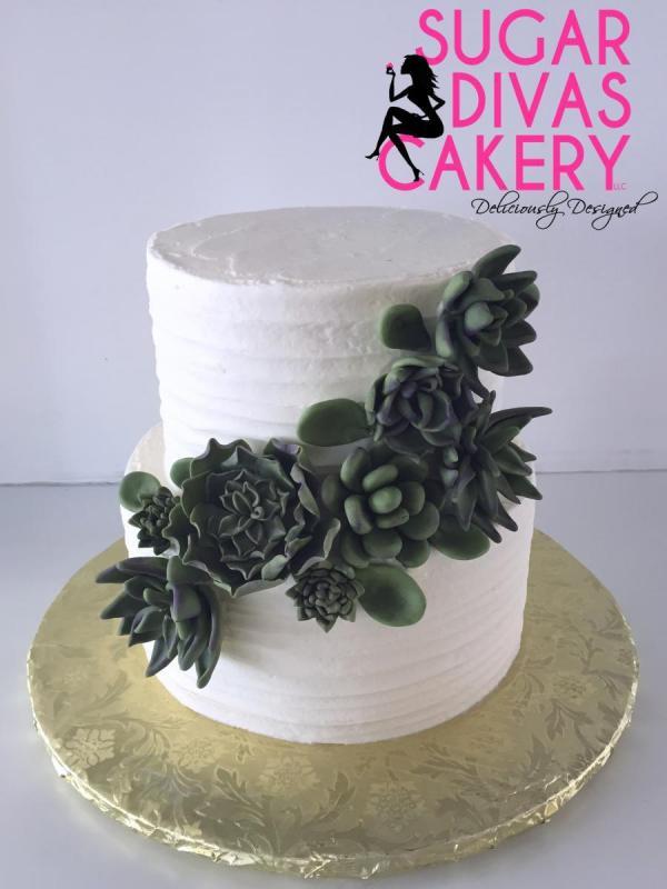 succulentssimpleline designgreen natural rusticbuttercream